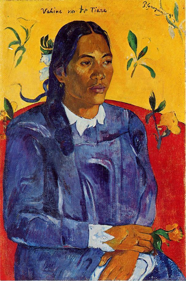Woman with a Flower 1891 70x46cm