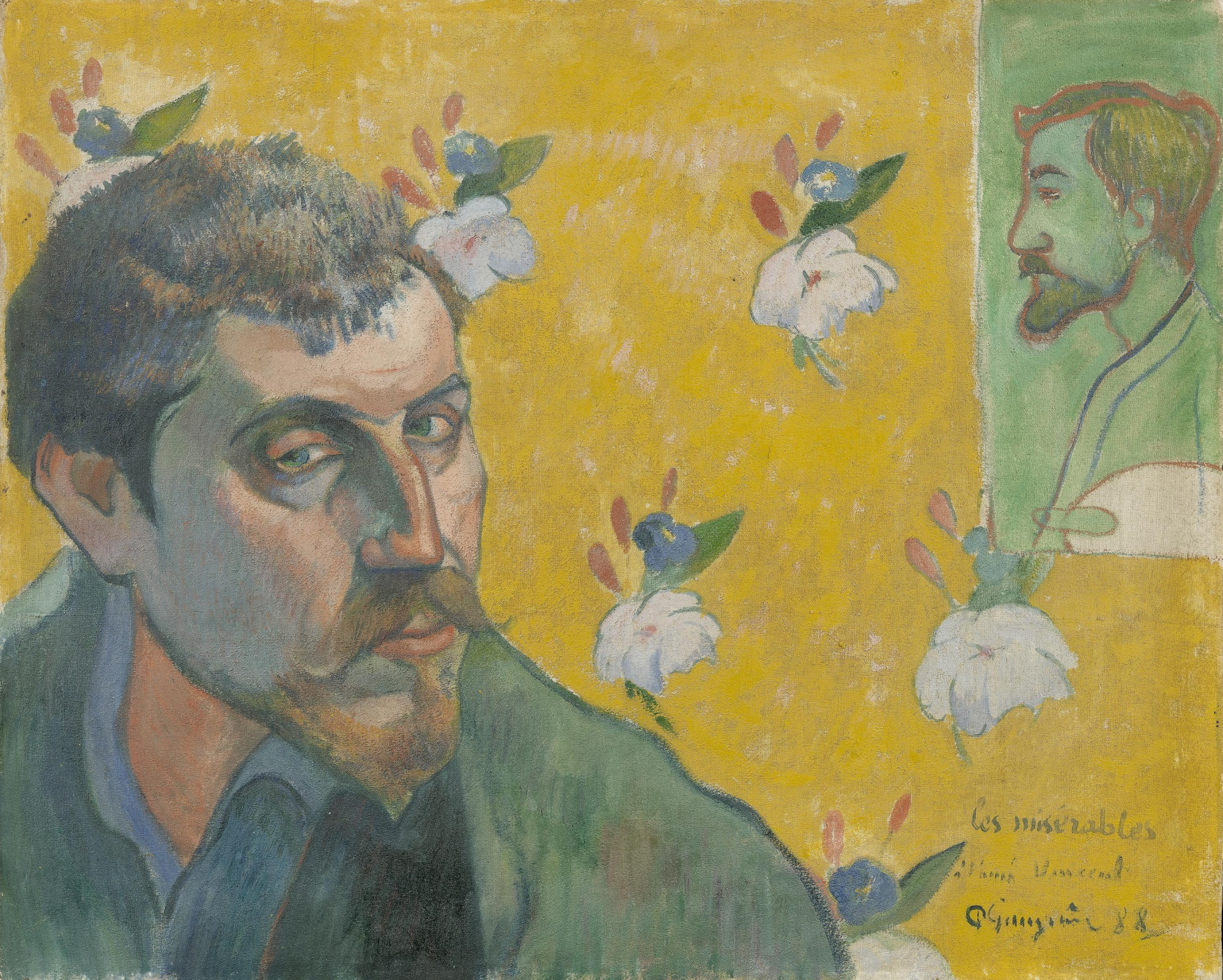 Self-Portrait Dedicated to Vincent van Gogh. Les Miserables 1888
