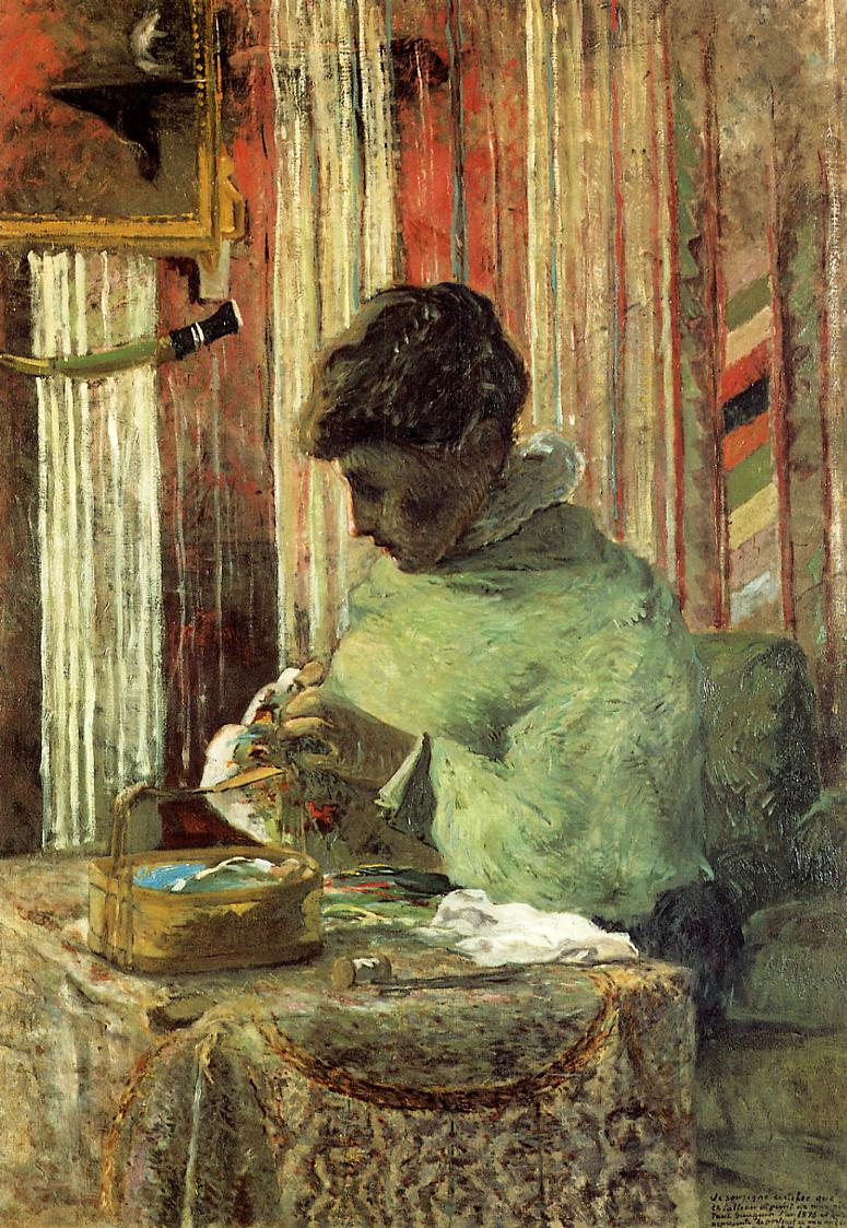 The embroiderer or Mette Gauguin 1878