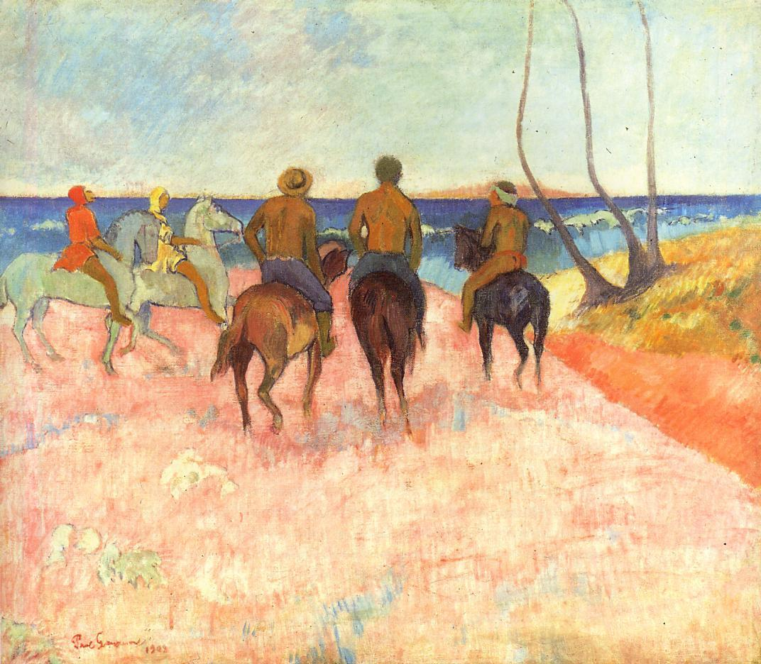 Riders on the beach 1902