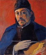 Self portrait with palette 1894
