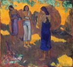 Three Tahitian Women against a Yellow Background 1899