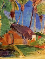 Hut under the coconut palms 1894